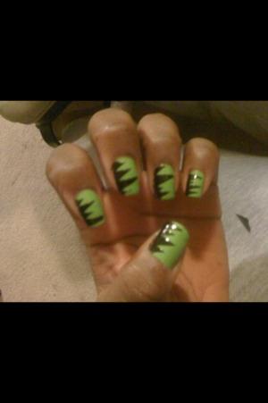 Green monster nails