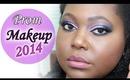 Smokey Purple Sparkle: PROM 2014 MAKEUP TUTORIAL