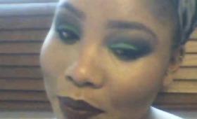 Sleek Acid Palette Series- Green Smokey Eye Colour Blocked