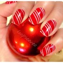 Candy Cane Nail