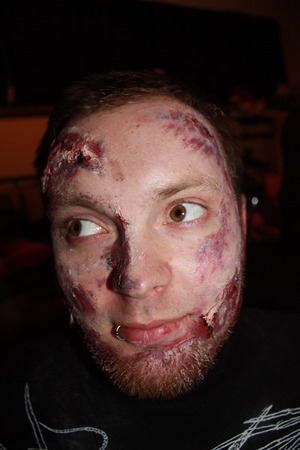 kyle's zombie makeup