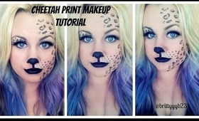 Cheetah/ Leopard Print Makeup Tutorial ll Halloween Inspired