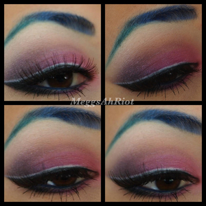 gradient brows and a contrast with a bit of white liner.