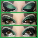 black n green Smokey look