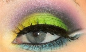 Green & Purple Inglot Look