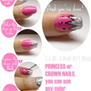 Princess/Crown Nails Tutorial