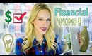Financial Advice! Paying Off Student Debt, Saving Money & More!