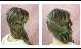 Formal Hairstyle, Sideswept Braids and Curls