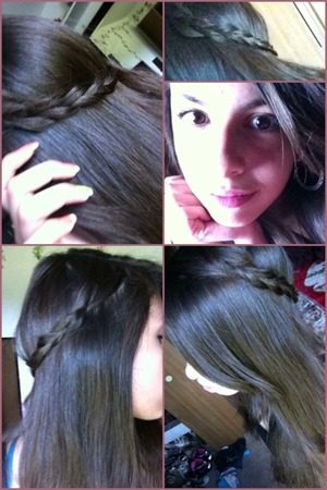 Just a simple braid from both sides clipped in the back