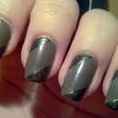 Taupe & olive