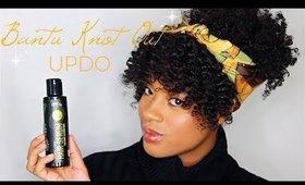 Bantu Knot Out Updo | Ft. Curls