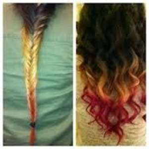 Double dip dye in fishtail braid simple to do comment to find out more :-) xx