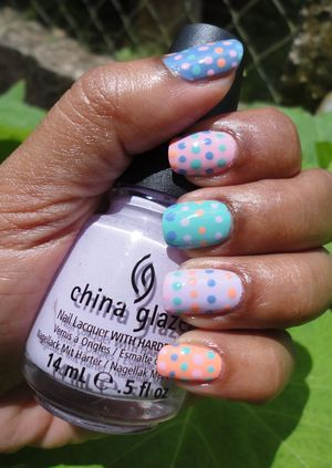 Colourful Easter Manicure: For more information see http://www.chinadolltt.blogspot.com/2012/04/colourful-easter-nails.html