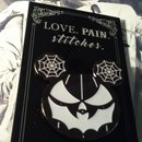 Love Pain and Stitches pin
