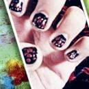 party night nail art for small nails