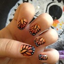 My Monarch Butterfly Nails
