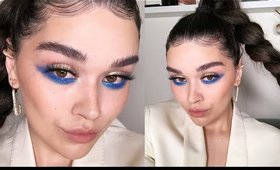 It's Electric. A blue moment makeup tutorial