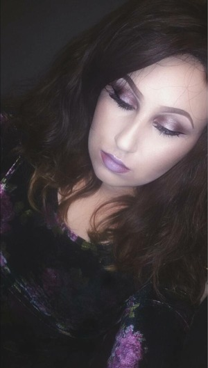 A beautiful lilac ombre with an eyeshadow look to match