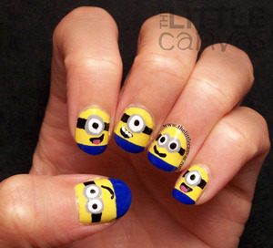 http://www.thelittlecanvas.com/2013/06/despicable-me-minion-nails-tutorial.html