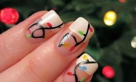 Holiday Lights Nail Art