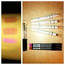 NYX lip pencil swatches