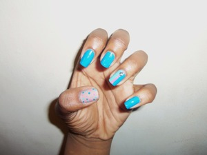 i love studs in nail art, and polka dots of course.