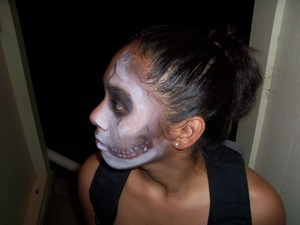 Skull  Halloween Makeup on Hoku:)
