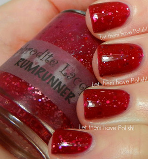 A delicious berry toned jelly packed full of Twinkling Red glitter. So juicy and fun!