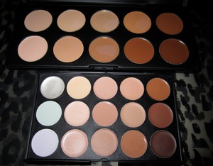 ♥ COASTAL SCENTS Camouflage concealer palette and ECLIPSE Palette.