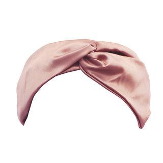 Twist Silk Headband Pink