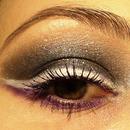 White winged eyeliner