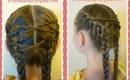 Criss Cross French Braids Hairstyle, Hair4MyPrincess