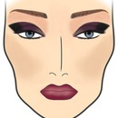 Mauve Smokey Eye Digital Face Chart