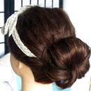 Headband Bun Upstyle