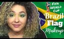 Brazilian Flag Inspired Makeup Tutorial -FIFA World Cup- (NoBlandMakeup)