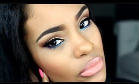 Summer Makeup Tutorial - Neutral Eyes with POP of Color