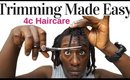 How To Trim 4c Natural Hair For Growth | DIY Hair Trimming Method