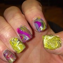 water marbled designs