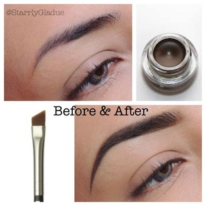 I'm using MAC's fluidline brow gelcreme in 'deep dark brunette' with the #263 angle brush.