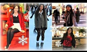 Holiday Outfits! (Ice Skating, Shopping, New years eve + more!)