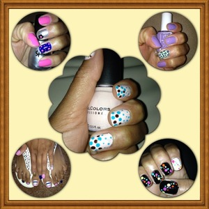 Some of my work, I love to do my nails. They have to been always nice!