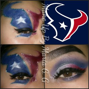 used NYX white base and the red and blue from NY coastal scents pallette football patriots