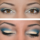 Blue and Yellow Eye Makeup Look