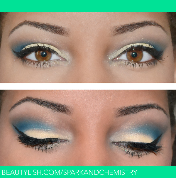 Blue And Yellow Eye Makeup Look Alicia P S