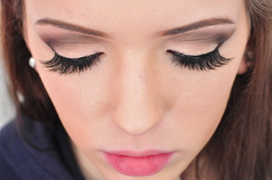 Eyelashes are messy cause we had some trouble with wearing lashes for the first time lol
