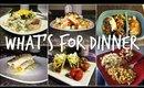 WHAT'S FOR DINNER   7 DINNER IDEAS   FAMILY OF 3