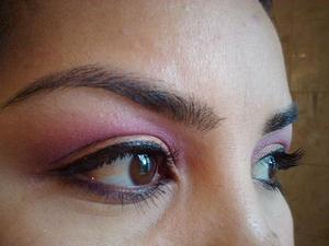 EOTD 6.6.11  Amber Lights (MAC), AMC eyeshadow #74 (Inglot), Pink Opal pigment (MAC)
