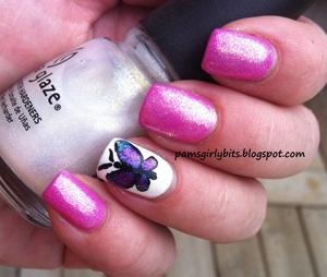 butterfly nail art 067
