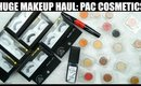 HUGE MAKEUP HAUL | PAC Cosmetics | SWATCHES & REVIEW | Stacey Castanha