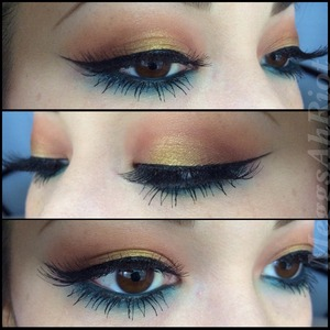 I pretty much live in gold and blue eyeshadows. My favorite gold shadow is sugarpill goldilux. Ugh can't get enough of that color!